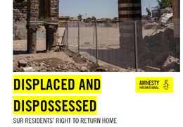 Amnesty International: Curfews and crackdown force hundreds of thousands of Kurds from their homes