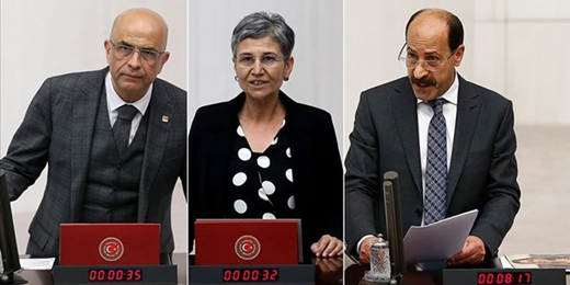 Two HDP deputies and one CHP deputy lose their seats and are imprisoned